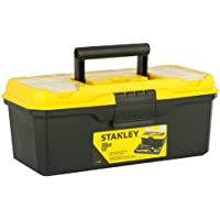 STANLEY 1-71-948 13'' Organised Maestro Plastic Tool Box with Clear top lid, Yellow