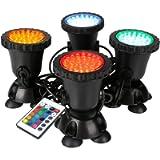 GreenSun LED Lighting Garden Pond Light, Underwater RGB Spot Lights, Color Changing LED Aquarium Light, Fish Tank Light…