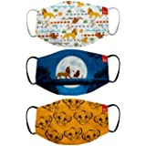 Bon Organik Lion King (OFFICIAL MERCHANDISE) 2 Ply Printed Cotton Cloth Face Mask Bundle For Kids (Set Of 3)