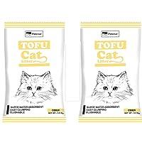 Petcrux Exclusive Organic Tofu Cat Litter 6L = 2.5 Kg (Corn(origal), Pack of 2 - Total 5 Kg)