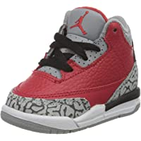 Nike Jordan 3 Retro SE (TD), Scarpe da Basket Bambino, Fire Red/Fire Red-Cement Grey-Black, 18.5 EU