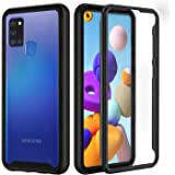 seacosmo Samsung A21S Case, Full Body Shockproof Cover [with Built-in Screen Protector] Slim Fit Bumper Protective Phone Case