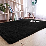 YJ.GWL High Pile Indoor Morden Shaggy Area Rugs Fashion Color Girls Room Nursury Baby Rug for Bedroom Home Decor