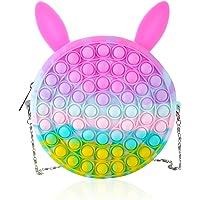 Pop Shoulder Bag, Pop Fidget Toy Bag, Popper Pop Bubble Fidget Sensory Toys Bag, Stress Release Bubble Silicone Bag