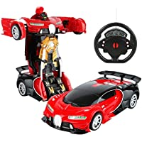 Amitasha Battery Operated Converting Car to Robot - Robot to Car Automatically Transformation Toy (Without Battery)