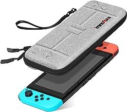 Tasche für Nintendo Switch – innoAura Tragbares Hartschale Slim Travel Tragetasche passend zur Switch Konsole & 8 Game