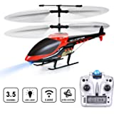 VATOS RC Helicopter Remote Control Helicopter,3.5 Channels Indoor Hobby Mini RC Flying Helicopter 2 Blades Replace Included RC Plane Toy Gift for Kids Crash Resistance with Gyro