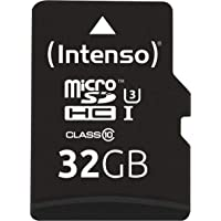 Intenso Professional microSDHC UHS-I Class 10 32GB Speicherkarte inkl. SD-Adapter (bis 90Mbps) schwarz