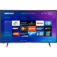 MEDION X14351 108 cm (43 Zoll) UHD Fernseher (Smart-TV, 4K Ultra HD, HDR 10, Micro Dimming, Netflix, Prime Video, WLAN…