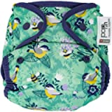 Close Pop-in Single Eco-Friendly Reusable Cloth Nappy Birth to Potty Bamboo Nappy Popper Fastening and Stretchy Tabs…