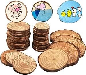 200 Stück Hölzerne Leer Holzscheiben Hängende Verzierung Tier Form für