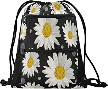 QMIN Travel Pillow Daisy Flower Pattern