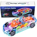 Toyshine Concept Musical and 3D Lights Kids Transparent Car, Toy for 2-5 Year Kids