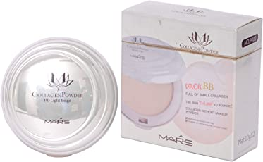 Mars 2in1 Whitening Light Perception Compact Collagen Powder (Beige)