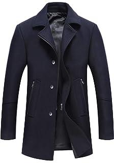 Mirecoo Business Manteau chaud en laine pour homme, manteau