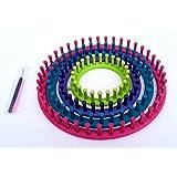 Tricotin circulaire Métier à tricoter en ABS 14 cm 19 cm 24 cm 29 cm Ensemble de Métier à Tisser Chaussette Écharpe Chapeau T