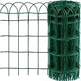 Amagabeli 0.65Mx25M Garden Border Hek PVC Gecoat Rand Metalen Draad Hekwerk Roestvrij IJzeren Landschap Netting Border Edge P