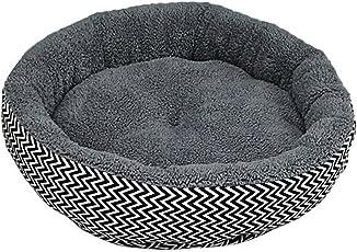 Winter Warm Runde Hund Bett Weiche Kitten Welpen Haustiere Mat Für Kleine Hunde-Grau M