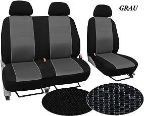 Autositzbezüge, Schonbezüge , Super Qualität, STOFFART VIP, Set BUS 1+2 - passend für T6. In diesem Angebot GRAU (Muster im Foto). In 3 Farben bei anderen Angeboten erhältlich
