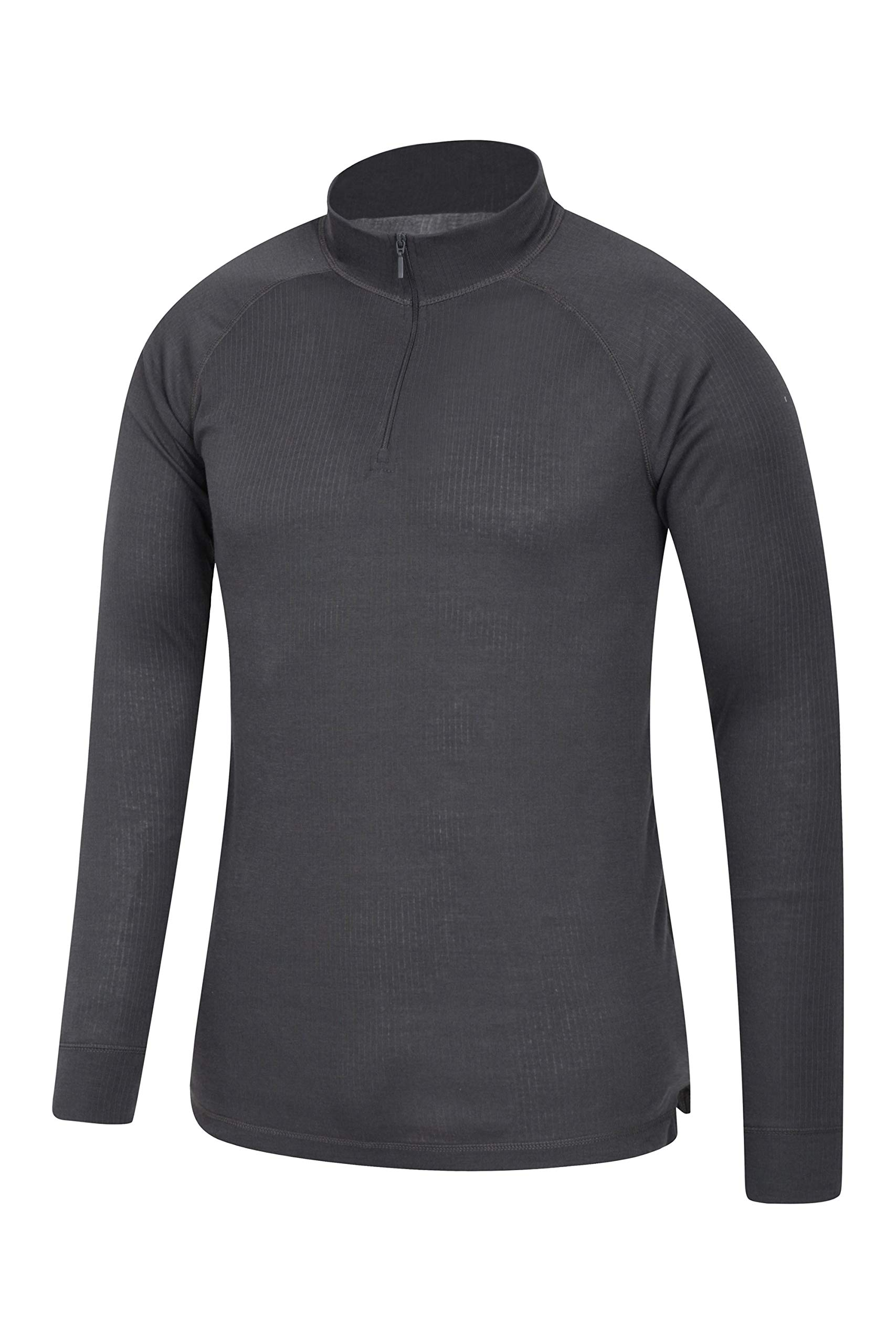 Mountain Warehouse Talus Mens Thermal Baselayer Top - Long Sleeve Sweater, Zip Neck, Quick Drying Pullover, Breathable, Lightweight - Great for Winter, Travelling 3