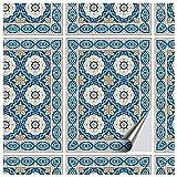 FoLIESEN tegelstickers 15x20 cm - tegelstickers badkamer - tegelsticker keuken - 16 plaktegels, Oosterse azulejos