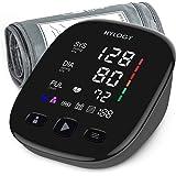 HYLOGY Misuratore di Pressione, Digitale Automatica Sfigmomanometro da Braccio, Grande Schermo Led e Bracciale, 2 utente 180