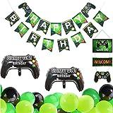 Kreatwow Ideospel Verjaardag Decoraties Spel Op Niveau Gamer Verjaardagsfeestje Benodigdheden Voor Jongens Ballonnen Gefeliciteerd Banner Cupcake Toppers Amazon Nl