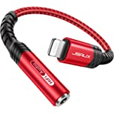 JSAUX Headphone Adapter for iPhone,【Apple MFi Certified】Lightning to 3.5mm Female Headphone Jack Adapter iPhone Aux…