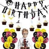 Artículos de Fiesta para Harry Potter BESLIME Suministros para la Fiesta de Harry Potter, Estandarte de cumpleaños, Harry Pot
