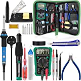 Soldering Kit,Soldering Iron with Multimeter,NO-Soldering Welding Tools/Cutter/Solder Wire/Solder Iron Tip and PU Tools…