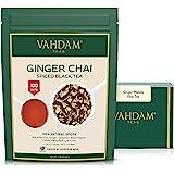 VAHDAM, té Chai de Masala de jengibre (100 tazas) | ESPECIAS 100% NATURALES | Auténtico té indio de jengibre | Hojas de té Ch