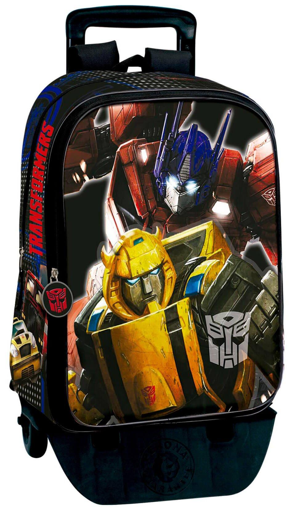 71Aw9%2B34grL - Transformers Mochila con Carro Plegable, Ruedas, Trolley