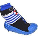 Pantofole per bambini, con calzini ABS, suola in gomma, antiscivolo