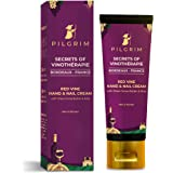 Pilgrim Red Vine Hand And Nail Cream with Cocoa & Shea Butter for Rough Hands, Dry Skin, Brittle Nails, Men And Women, Girls,