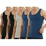 Falechay Camiseta Tirantes para Hombre Pack de 5 de Algodón 100% Camisetas Interiores Deporte más Colores