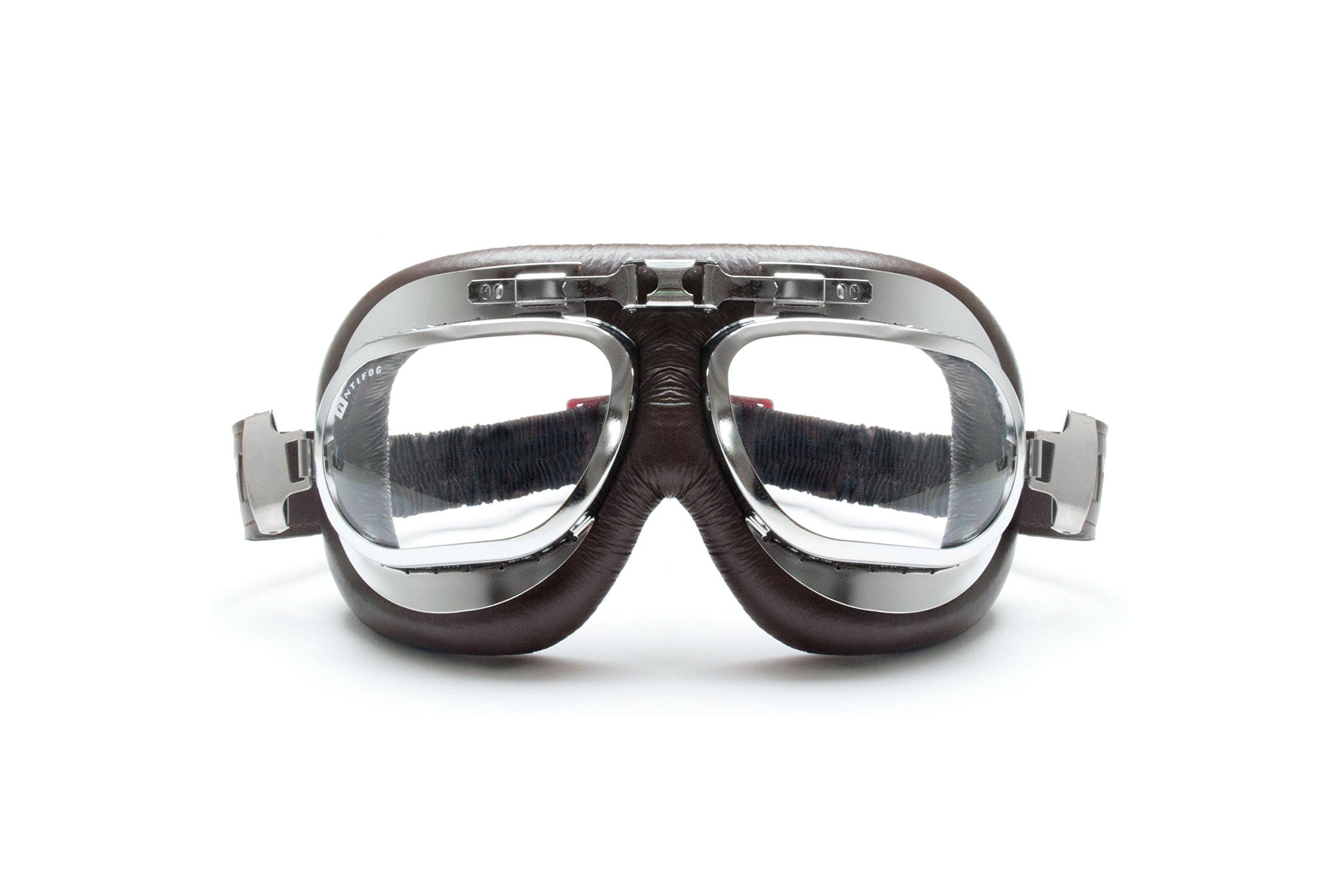 Masque vintage aviator moto style 60's 1
