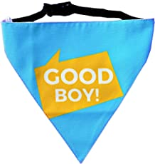 Good Boy! Dog Bandana by Lana, Quirky & Cool Dog Fashion Accessory with Easy to use Adjustable Strap