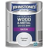 Johnstone's 303919 Szybko schnąca satyna, srebro matowe, 0,75 l