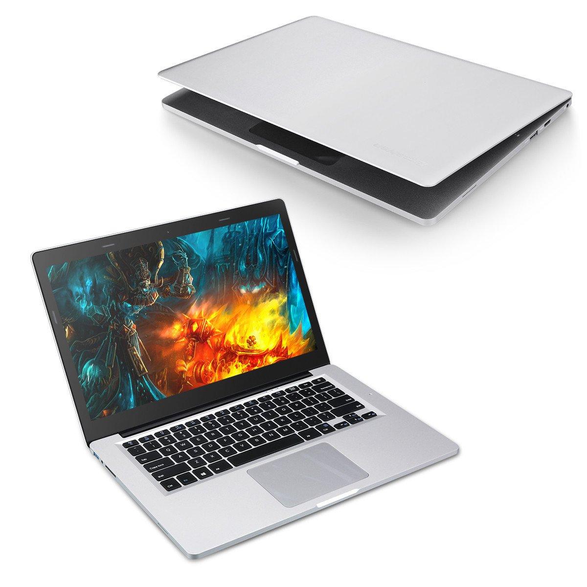 Excelvan X8 Pro Notebook de14.1 Pulgadas (Windows 10,Intel Celeron J3455 Quad Core, 6GB RAM +64GB ROM,Pantalla IPS,HDMI) Portátil Plata