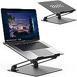 TATE GUARD Laptopstandaard, opvouwbare laptop-riser, verstelbare hoek, aluminiumlegering, licht en duurzaam, laptopstandaard