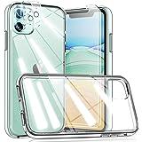 TOCOL Funda Compatible con iPhone 11, 2 Piezas Protector de Pantalla 2 Piezas Lente de cámara Vidrio Templado Carcasa Antigol