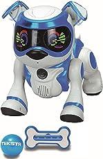 Splash Toys 30642 - TEKSTA 5G interaktiver Roboter Hund, elektronisches Haustier, mit Spielball & Spielknochen, reagiert auf Kommandos, macht Saltos, zeigt Gefühle, viele weitere Spielmöglichkeiten per App