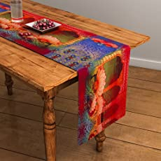 Sej By Nisha Gupta Sej Abstract Multicolour Hd Digital Premium 13 By 48 Inches Table Runner