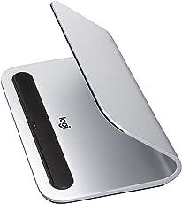 Logitech 939-001471 Base Ladestation mit Smart Connector-Technologie für Apple iPad Pro 12,9/9,7 Zoll Silber