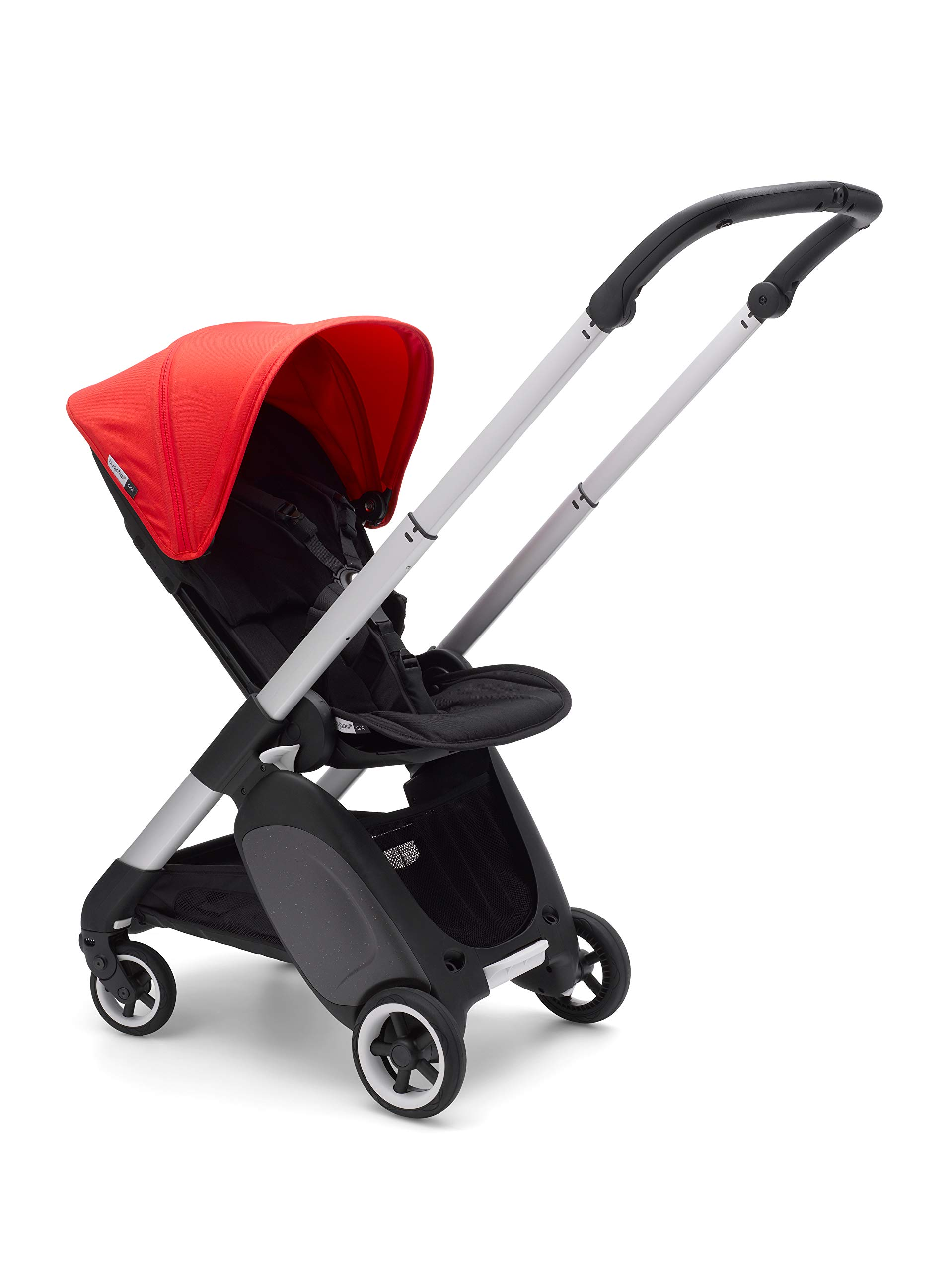 Bugaboo Ant, Lightweight Travel Pushchair with Compact Fold, Converts Into Pram, Black/Neon Red Bugaboo Suitable from birth to toddler Car seat compatible Lightweight and easy to carry 2