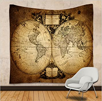 Wszyd wall hanging tapestry world map series wall decoration home wszyd wall hanging tapestry world map series wall decoration home sofa towel table mat beach towel carpet polyester fiber material color h gumiabroncs Choice Image
