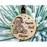 Gravure Events Décoration de Sapin personnalisée avec Votre prénom (Un Joli Cadeau, Une Alternative à la Boule de Noël Tradit