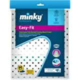 Minky Easyfit Ironing Board Cover 110x35cm Elasticated Easy Tie Pretty Design