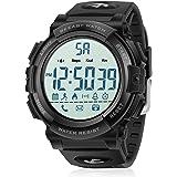 Beeasy Relojes Digital Hombre,Reloj Deportivo Hombre Impermeable Watches LCD con Esfera Grande Inteligente Fitness Tracker Co
