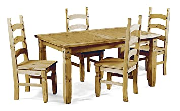 Mercers Furniture Corona 5 ft Dining Table and 4 Chairs Amazonco